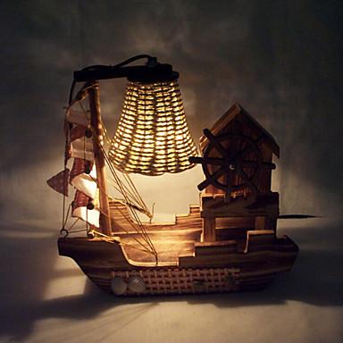 Kreativ træ lys musik sejle lampe dekoration bordlampe soveværelse ...
