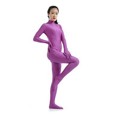 Buy Zentai Suits Ninja Cosplay Costumes Purple Solid Leotard/Onesie / Catsuit Lycra Spandex Unisex Halloween Christmas
