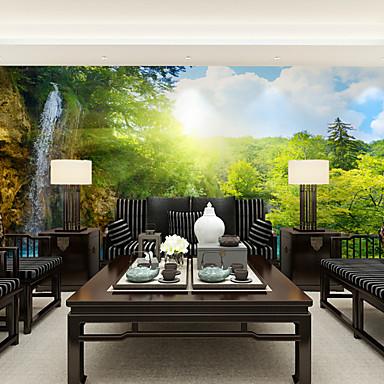 jammory art d co papier peint mur contemporain rev tement chute d 39 eau de fontaine de papier de. Black Bedroom Furniture Sets. Home Design Ideas