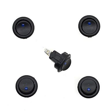 Buy 12V Motorcycle Automobile Roundness CS-382LED Indicator Switch X 5