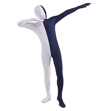 Buy Unisex Multi-Color Zentai Suits Lycra / Spandex White & Blue