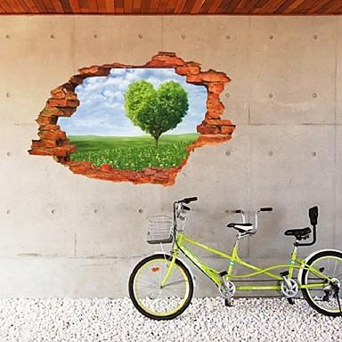 Removable 3d broken wall scenery wall sticker home decor for Broken wall mural