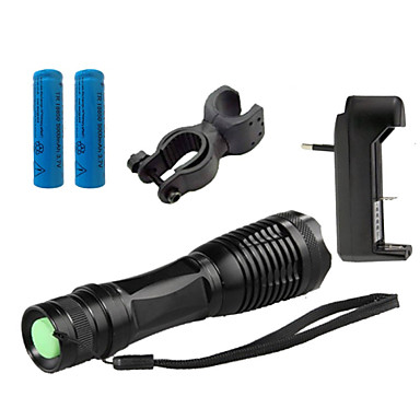 Buy LS1782 ZK10 CREE XM-L T6 5 -Mode 4000 Lumens Focus Zooming Adjustable LED Flashlight Bike Bicycle Front Light Suit