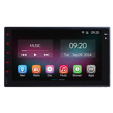 Buy 7 inch In-Dash 1024*600 Full Touch Panel Car Multimedia Player Universal 2 Din Quad Core 2G RAM+16GB ROM Android 4.4 GPS