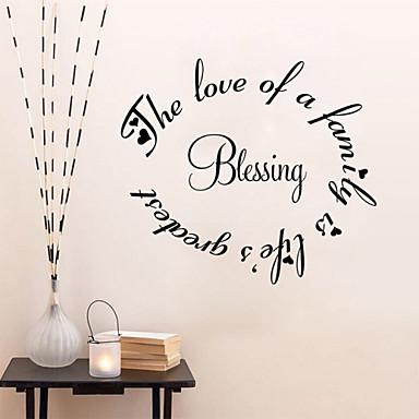 Palabras y frases pegatinas de pared calcoman as de - Pegatinas pared frases ...