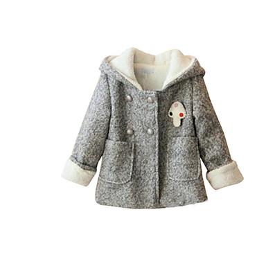veste manteau fille de hiver coton gris de 4924403 2016. Black Bedroom Furniture Sets. Home Design Ideas