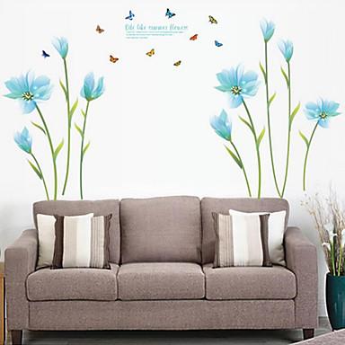 Romance de moda florales pegatinas de pared calcoman as de - Calcomanias para paredes ...
