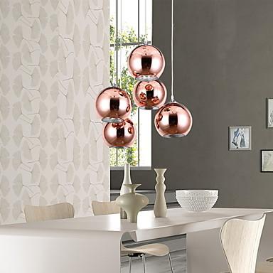lmparas colgantes moderno esfera galvanizado for mini estilo metal sala de estar dormitorio comedor u