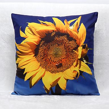 3d Sunflower Pattern Velvet Pillowcase Sofa Home Decor