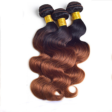 Buy 8 inch-24 inch Brazilian Virgin Hair,Color 1b/30 Body Wave, Factory s Raw Human Hair Weaves.