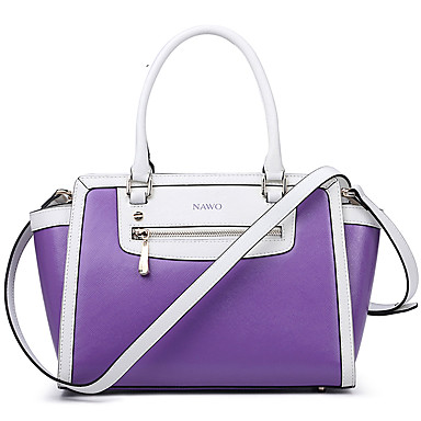 Buy NAWO Women Cowhide Tote Purple - N237