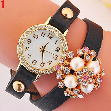 damen modeuhr quartz armbanduhren f r den alltag legierung band schwarz wei blau rot. Black Bedroom Furniture Sets. Home Design Ideas