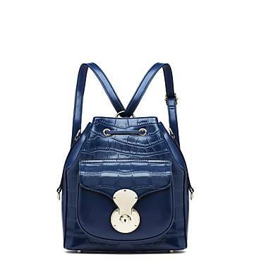 Buy NAWO Women Cowhide Backpack Blue-N652041