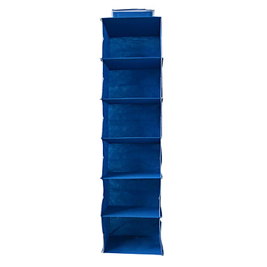 Buy Household Hangging Storage Bra Underwear Shoes Cloth Receive Non-woven Bag 6 Layer(Blue)