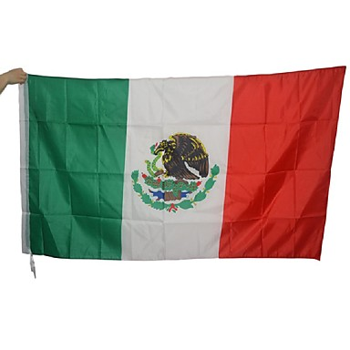 Large Mexican Flag Polyester Mexico National Banner Indoor