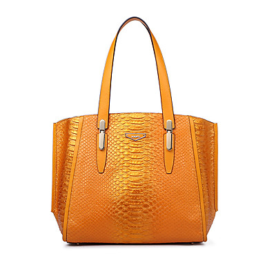Buy NAWO Women Cowhide Tote Yellow - N258