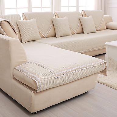 algod o linho antiderrapante cobrir sof bege slipcover. Black Bedroom Furniture Sets. Home Design Ideas