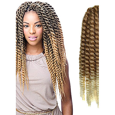 Crochet Box Braids 12 Inch : 12-24 inch Crochet Braid Havana Mambo Afro Twist Hair Extension 27T613 ...
