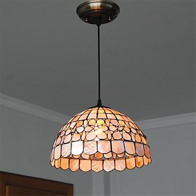 12 inch retro tiffany pendant lights shell shade living room dining room ligh. Black Bedroom Furniture Sets. Home Design Ideas