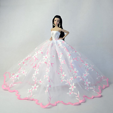 Wedding dresses for barbie doll white pink dresses for for Barbie wedding dresses for sale