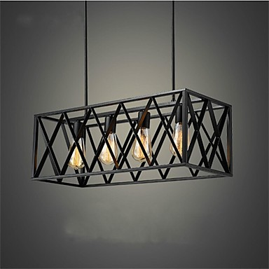 european classical iron 4 head box black bedroom lamp lamp chandelier
