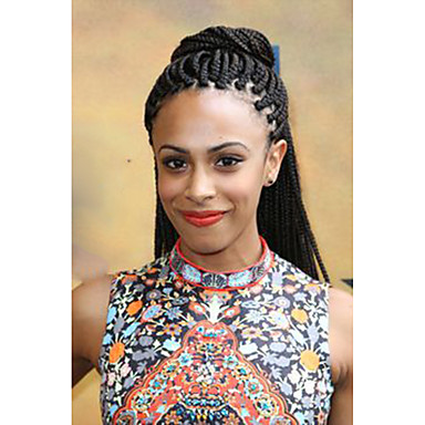 Crochet Box Braids 24 Box Braids Hair Extension Afro Kinky Curly ...