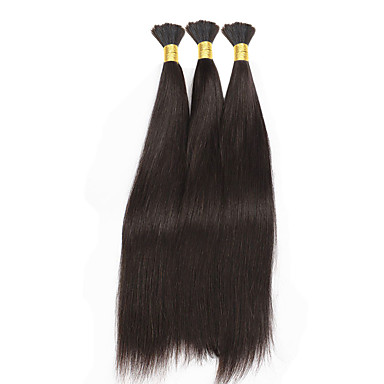 3pcs lot straight hair bulk 8 28 brazilian virgin hair