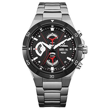 Casima men 39 s watch multifuction stainless steel fashion luminous calendar week display water for Casima watches