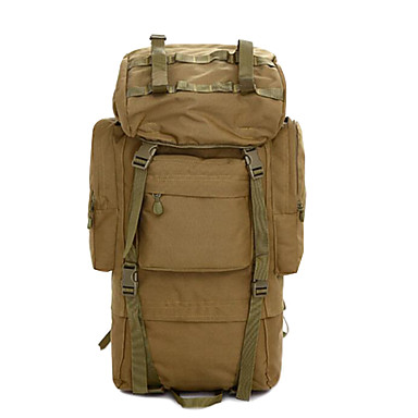 Buy 2 L Backpack Camping & Hiking Leisure Sports Multifunctional Brown 600D Ripstop