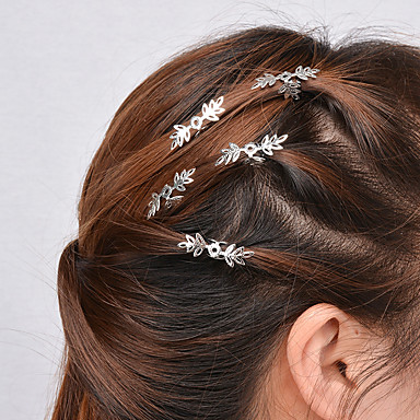 Women Simple Hollow Snowflake Pattern Hairpin Hair Clips ...