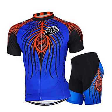 Buy Sports Bike/Cycling Jersey + Shorts / Tops Bottoms Men's Short Sleeve Breathable Stretch Sweat-wicking Mesh WhiteS M L XL