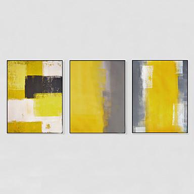 handgemalte abstrakt lgem lde modern drei paneele. Black Bedroom Furniture Sets. Home Design Ideas