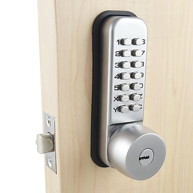 mechanical door lock with combination digital code