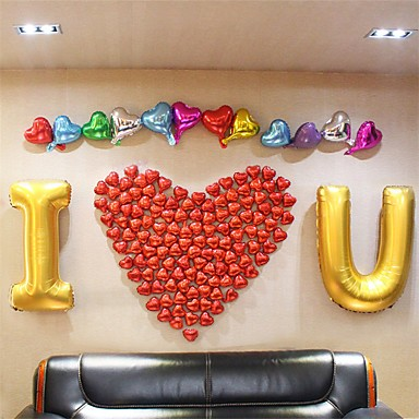 Alphabet letters i love you balloons set214 balloons 1 for I love you letter balloons