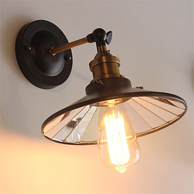 American Country Vintage Wall Lights Light Direction Adjustable Metal Mirror Glass Dining Room ...