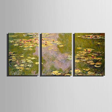 Toile set paysage style europ en trois panneaux toile for Decoration murale verticale