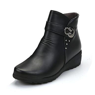 s boots fall platform pu casual wedge heel sequin