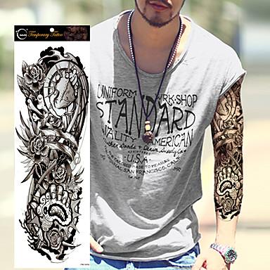 1pcs new extra large tattoo waterproof full arm shoulder - Mangas de tattoo ...
