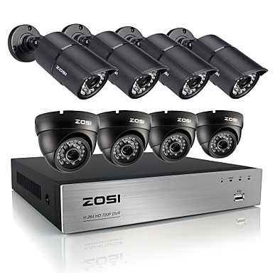 Buy ZOSI®HD 720P 8CH CCTV System DVR 1200TVL IR Weatherproof Outdoor Video Security Camera