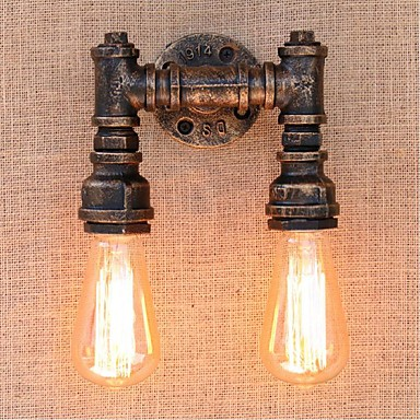 ac 220v 240v 40w e27 bg820 2 nostalgia simple water pipe decorative small wall lamp wall light. Black Bedroom Furniture Sets. Home Design Ideas