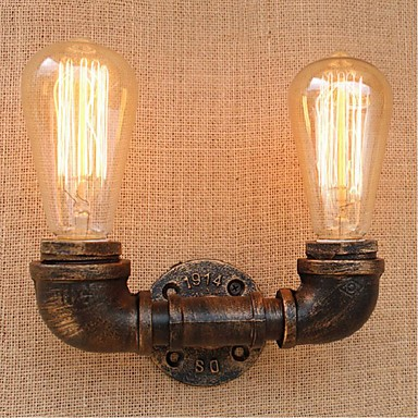 AC 220V-240V 40W E27 BG804-2 Nostalgia Simple Water Pipe Decorative Small Wall Lamp Wall Light ...