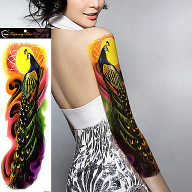 1pcs new big size waterproof full arm tattoo sticker fake for Fake body tattoos