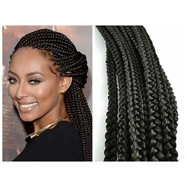 black 1b box braids twist braids hair extensions 20