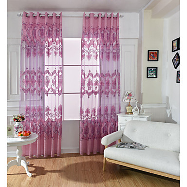 One Panel Curtain European Living Room Polyester Material Sheer Curtains Shad
