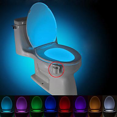 BRELONG Motion Activated Toilet Nightlight LED Toilet Light Bathroom Washroom