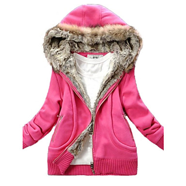 Women's Cute Fleece Hoodie Coat