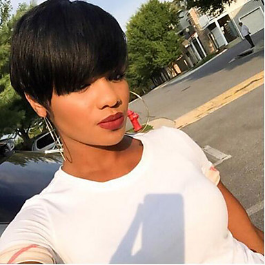 100 natural black short hair wigs heat resistant wig for