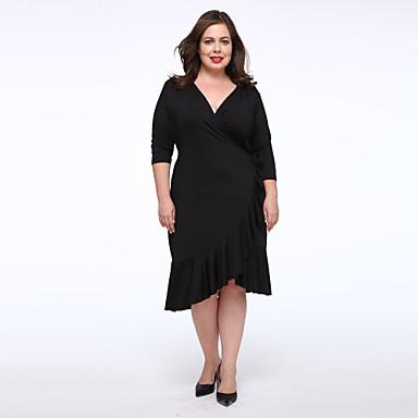 2019 year lifestyle- Black Simple dress plus size