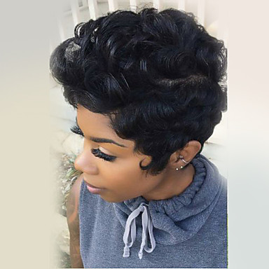 Remarkable Fluffy Short Natural Curly Human Hair Wig Capless Wig Heat Safe Short Hairstyles For Black Women Fulllsitofus