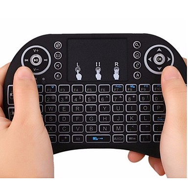 Air Backlit Flying Squirrels I8 2.4GHz Wireless Keyboard for Android TV Box and PC with Touchpad